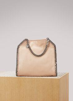 4b759c8cf80d8 Mini tote bag Falabella en chamois brillant à pois rose vif - STELLA ...