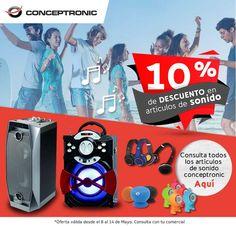 10% de descuento en artículos de sonido de Conceptronic