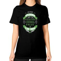 IM NOT SUPERWOMAN cerebral palsy Unisex T-Shirt (on woman)