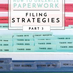 Organize and file household paperwork with these smart paper Filing Strategies. Get ready to cut through the clutter and create a system that really works! Organizing Paperwork, Budget Organization, Paper Organization, Organizing Tips, Hanging File Organizer, Sources Of Stress, Guest Room Office, Paper Clutter, Filing System
