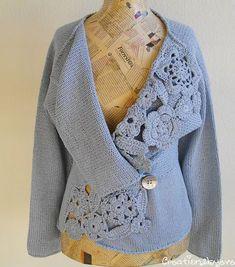 60 meilleures images du tableau gilets en tricot   Knit jacket ... 74b251c6396