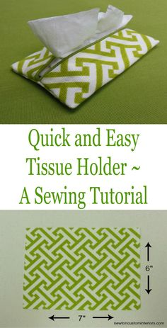 Quick and Easy Tissue Holder Made from Fabric Scraps ~ Tutorial