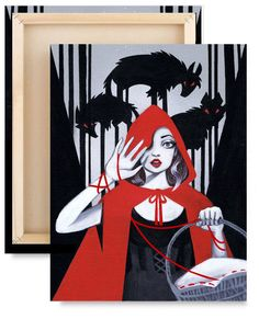 LIMITED EDITION: Red Little Red Riding Hood di LeilaniJoyArt