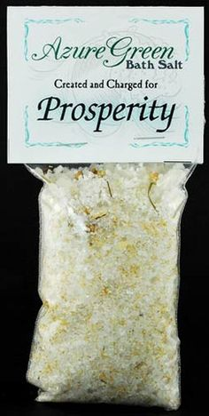 #pagan #wicca #witchcraft #celtic #druid #tarot Prosperity Bath Salts 6oz $3.95