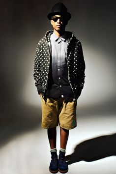 Pharrell Williams Models Billionaire Boys Club and A Bathing Ape Spring 2013 Collections