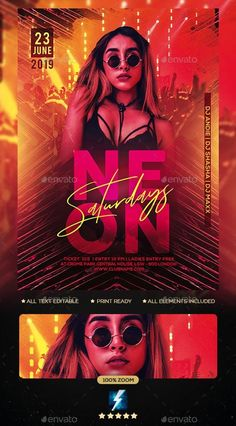 Buy Neon Party Flyer by sparkg on GraphicRiver. Neon Party Flyer It's unique flyers, poster design for your business Advertisement purpose. Web Design, Logo Design, Flyer Design, Graphic Design, Modern Design, Dj Party, Neon Party, Party Flyer, Club Flyers