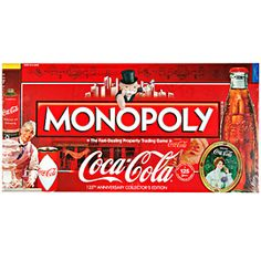 Coca-Cola presents the 125th anniversary collector's edition of Monopoly