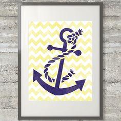 Nautical Chevron Anchor