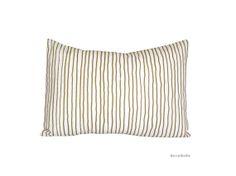 Decorative pillow  Gold Stripes Cushion  Zen by Beccatextile, €22.99