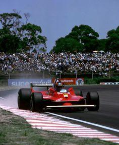 Gilles Villeneuve su Ferrari  GP Argentina 1980 Sports Car Racing, Race Cars, Auto Racing, My Dream Car, Dream Cars, Formula 1, Belgian Grand Prix, Gilles Villeneuve, Ferrari F1