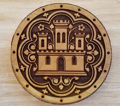 SCA Wood Block: 13th Century Castle from St Chapelle Woodcut   Etsy