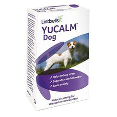 Lintbells YuCALM Stressed or Nervous Dogs Natural Calming Supplement - Pack of 60 Tablets for sale online Very Small Dogs, Dog Words, Dog Separation Anxiety, Support Dog, Stress Causes, Different Dogs, Anxiety Help, Medium Dogs, Happy Dogs