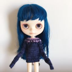 BLYTHE dolls Long Sleeve sweater handmade outfit by Circlenana on Etsy https://www.etsy.com/listing/507125337/blythe-dolls-long-sleeve-sweater