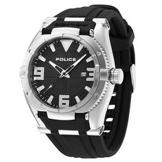 Police PL-13093JS-02 Men s Raptor Black Dial Black Silicon Strap Watch  Relojes cd85523886e