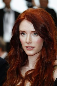Bryce Dallas Howard has beautiful red hair that compliments her angelic, fair skin.