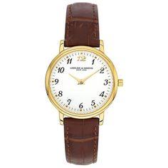 AS 1320 Abeler & Söhne klassisk forgyldt dameur med hvid urskive - AS1320 hos Urskiven.dk - Mærkevarer ure online lidt billigere