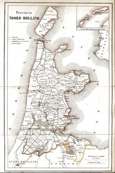 NOORD HOLLAND ATLAS 1868
