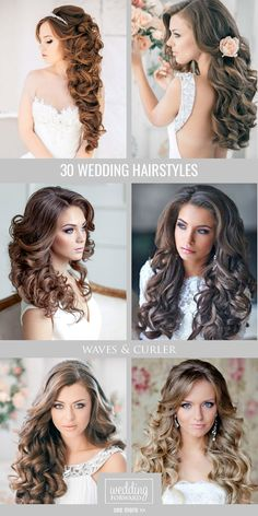 30 Favourite Wedding Hairstyles For Long Hair ❤ Hairspiration is when we go crazy over chic wedding hairstyles for long hair. See more: http://www.weddingforward.com/wedding-hairstyles-long-hair/ #wedding # hairstyles