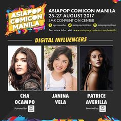 So stoked for my panel this Saturday together with @chaocampo and @janina.vela at 4:30 pm, SMX Mall of Asia! See ya guys there! #AsiaPopComicon2017