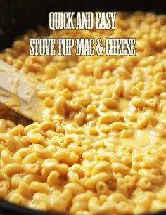 Quick and Easy Mac & Cheese--Made on the stove top, you can have this easy, cheesy dish on your table in 15 minutes.