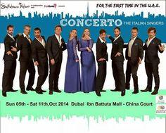 """Riflettori su...di Silvia Arosio: """"CONCERTO"""", the italian singers in Dubai: scoprite..."""