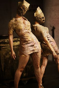 Silent Hill Nurse costumes.. I could at least incorporate the staples in my leg with this one!