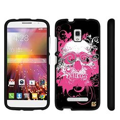 cool Spots8® for Alcatel One Touch Pop Mega A995G Glossy Image Graphic Designs 2 Piece Snap On Images Cellphone Cell Phone Hard Protective Case Cover - Pink Graphic Skull Design