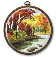Four seasons - summer digital pattern for cross stich ,Small landscape PDF , A modern picture PDF, Sunset Easy Cross Stitch Pattern Easy Cross Stitch Patterns, Simple Cross Stitch, Modern Cross Stitch, Cross Stitch Flowers, Cross Stitch Charts, Cross Stitch Designs, Cross Stitching, Cross Stitch Embroidery, Cross Stitch Landscape