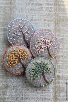 French Original Design Handmade Creative Brooch Indian Silk Embroidery Badge Plant Cactus Brooches Arts,crafts & Sewing