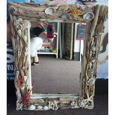 Mirror with Frame with Sea Shells & driftwood from Jeffreys Bay Beach - Eastern Cape in the Other category was sold for on 14 Mar at by Hanli Delport in Jeffreys Bay Driftwood, Sea Shells, Mirrors, Cape, Beach, Projects, Crafts, Ideas, Cabo