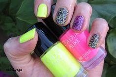 B. a Yellow Glow & B. a Fuchsia Flash #neon, #stampingnails