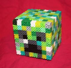 Minecraft Creeper Inspired Piggy Bank with Removable by BraveDeity, $20.00