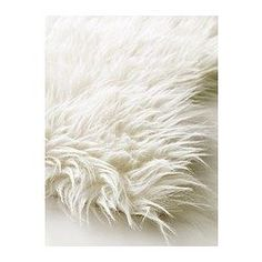 Several -- for Adirondack (sp) chairs around fire pit TEJN Faux sheepskin - IKEA White Faux Fur Rug, Faux Fur Area Rug, White Rug, At Home Furniture Store, Modern Home Furniture, Affordable Furniture, Plush Carpet, Game Rooms