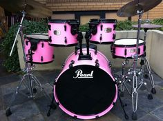 Pink Pearl ELX Export Series 5pce Lacquered Drum Kit