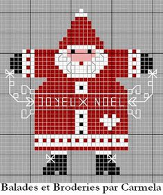 Cross-stitch Noel freebie  ... no color chart available, just use the pattern chart as your color guide.. or choose your own colors...