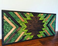 Arte de pared de musgo de Starburst