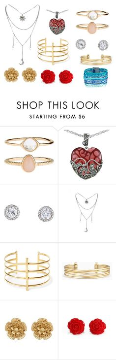 """""""Untitled #56"""" by crazy-cat-lady-5000 on Polyvore featuring Accessorize, Lord & Taylor, BauXo, Stella & Dot and Miriam Haskell"""