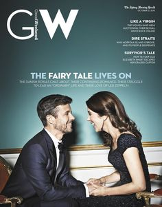Crown Prince Frederik and Crown Princess Mary on the cover of the Australian Sydney Herald Good Weekend magazine - they're so cute!