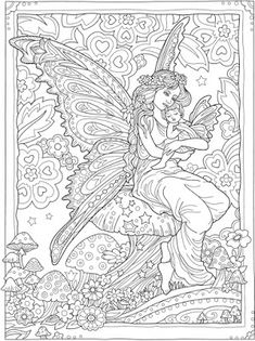 Fairy Coloring Pages, Dog Coloring Page, Unicorn Coloring Pages, Printable Adult Coloring Pages, Coloring Pages For Girls, Animal Coloring Pages, Free Coloring Pages, Coloring Books, Colouring Sheets