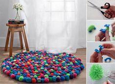 Comment réaliser un tapis en pompons à la maison!