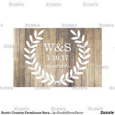 Rustic Country Farmhouse Barn Wood Laurels Guest Book