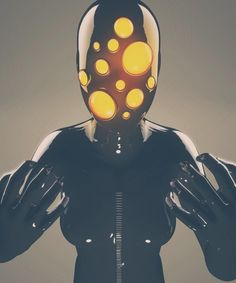 Neon God - Creative 3D Illustrations by Flavio Montiel