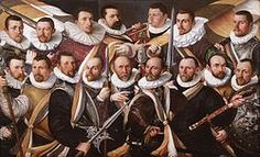 Officieren, vaandeldragers en trompetter van de Oude Schutterij (1598), Stedelijk Museum Alkmaar