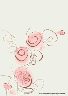 Imprimir gratis hojas con fondos Flower Doodles, Doodle Flowers, Borders And Frames, Stick Figures, Wire Crafts, Paper Background, Watercolor Flowers, Cute Wallpapers, Flower Art
