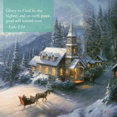 Churches - Thomas Kinkade Studios church images are truly a veritable feast for the eyes. Kinkade Paintings, Oil Paintings, Thomas Kinkade Art, Thomas Kincaid, Art Thomas, Sunday Inspiration, Magical Christmas, Christmas Scenes, Norman Rockwell