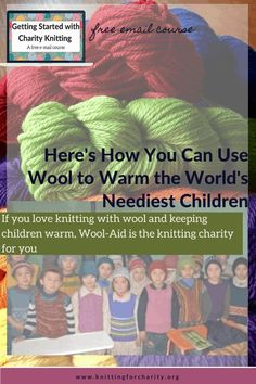 If you love knitting with wool and keeping children warm, Wool-Aid is the wool knitting charity for you ... Read More about  Here's How You Can Use Wool to Warm the World's Neediest Children - Knitting for Charity Knitting For Charity, Free Knitting, Syrian Refugee Camps, Free Stuff By Mail, People In Need, Helping Children, How To Make Notes, Community Art, Knitting Projects