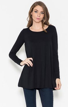 Simple Style Top- Black from Chocolate Shoe Boutique