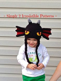♥ Introducing my newest design - the Dragon Hat. With fierce eyes, horns and wing-like ears, this dragon hat is super fun to wear. Perfect for everyday wear, as a gift or a photography prop. It's simply irresistible!