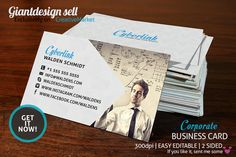 Corporate - Business card Templates Corporate - business card is fit for corporate or other related industry.Requirement :- Minimum A by GiantDesign Shop Corporate Business, Business Brochure, Business Card Logo, Business Card Design, Creative Business, Blank Business Cards, Free Business Card Templates, Script Type, Business Illustration