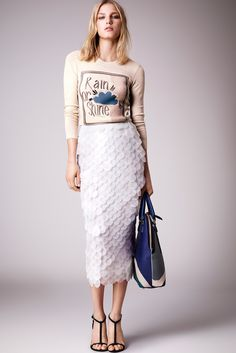 Burberry Prorsum Resort 2015 - this outfit has a perfect balance of casual and formal.